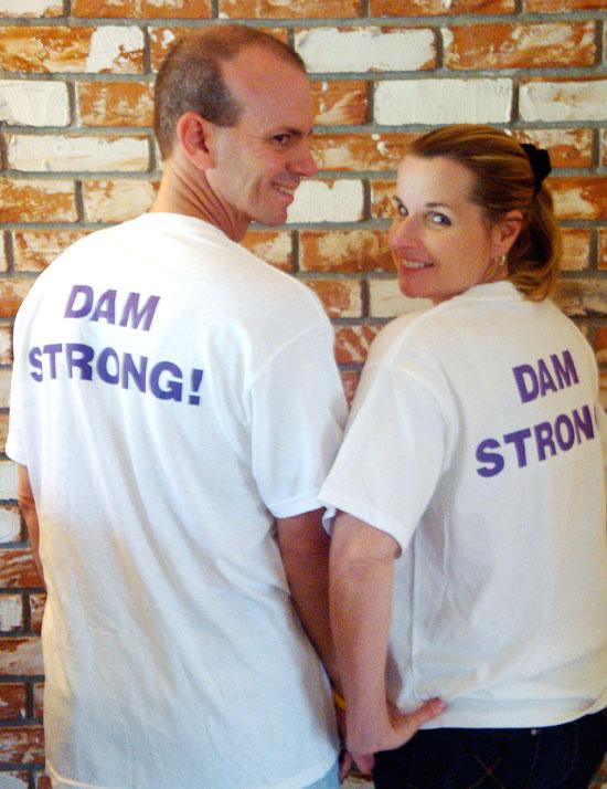 Cancer Survivor and Giver T-shirts (Back)