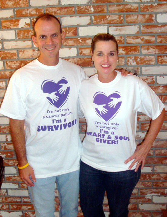 Cancer Survivor and Giver T-shirts (Front)